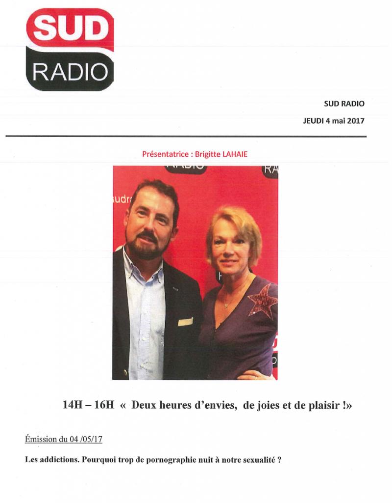 Jacques Marcout et Brigitte Lahaie - Sud Radio
